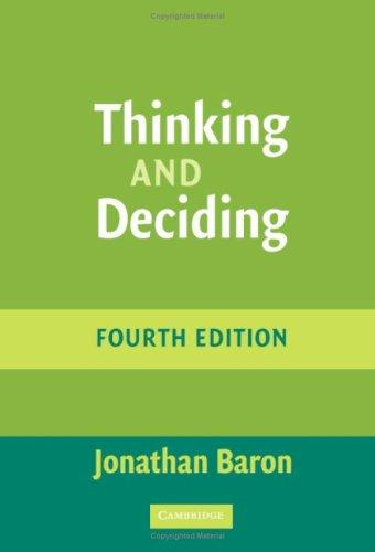 Download Thinking and Deciding