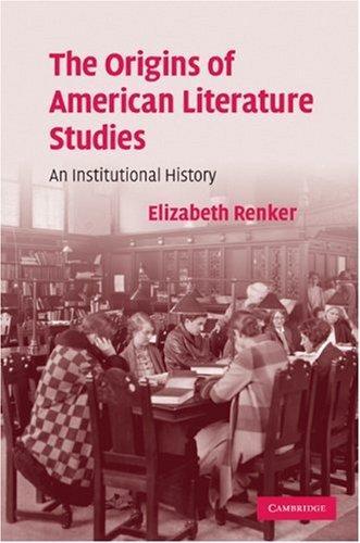 The Origins of American Literature Studies