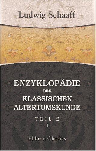 Enzyklopädie der klassischen Altertumskunde