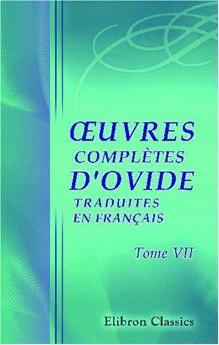 Download uvres complètes d\'Ovide, traduites en français