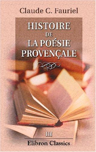 Histoire de la poésie provençale
