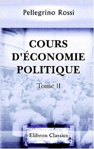 Cours d\'économie politique