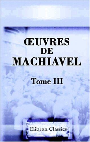 Download uvres de Machiavel