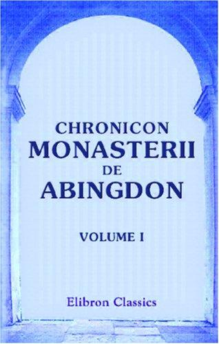 Download Chronicon Monasterii de Abingdon