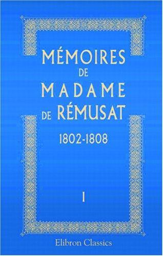 Mémoires de madame de Rémusat