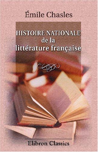 Histoire nationale de la littérature française