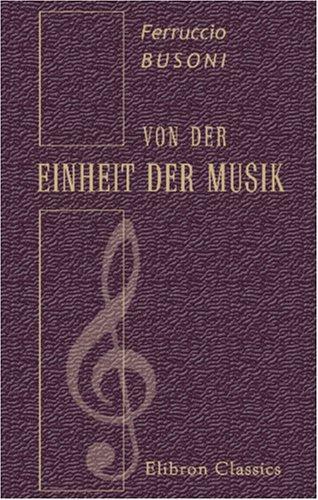 Von der Einheit der Musik