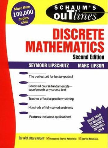Download Schaum's outline of theory and problems of discrete mathematics