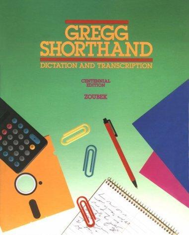 Gregg shorthand.