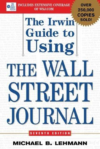 Download The Irwin Guide to Using the Wall Street Journal