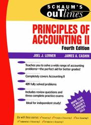 Schaum's Outline Of Theory And Problems Of Principles Of Accounting II PDF Download