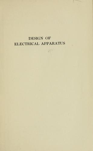 Download Design of electrical apparatus