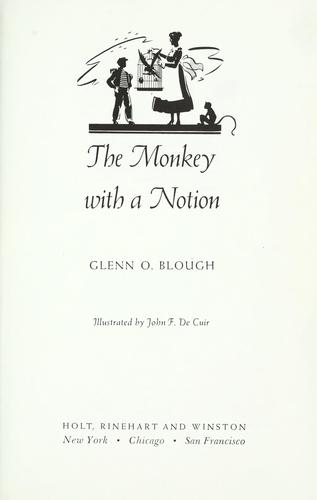 The monkey with a notion by Glenn Orlando Blough