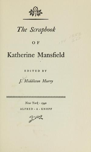 The scrapbook of Katherine Mansfield