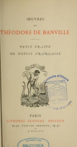 Petit traité de poésie française.