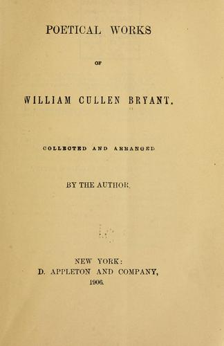 Poetical works of William Cullen Bryant.