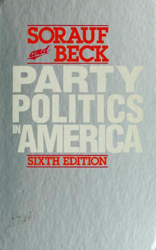 Download Party politics in America.