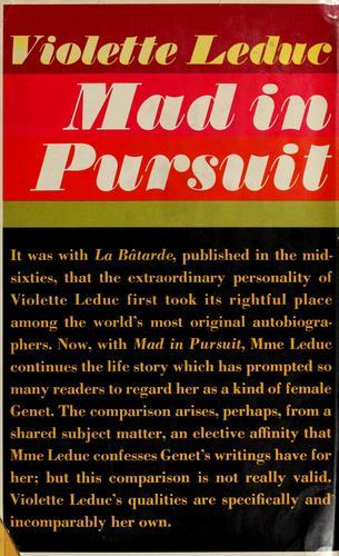 Mad in pursuit.
