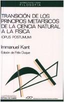 Transición de los principios metafísicos de la ciencia natural a la física