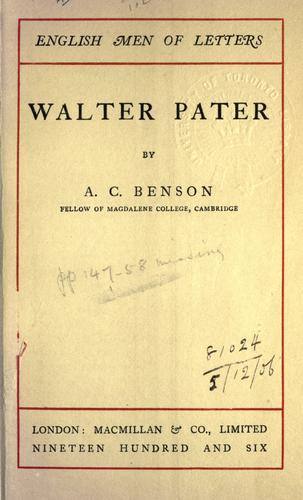 Download Walter Pater.