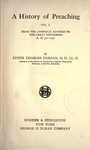 Download A history of preaching