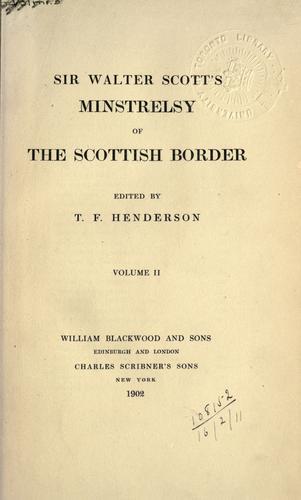 Minstrelsy of the Scottish border.