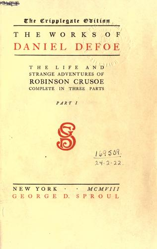 The works of Daniel Defoe.