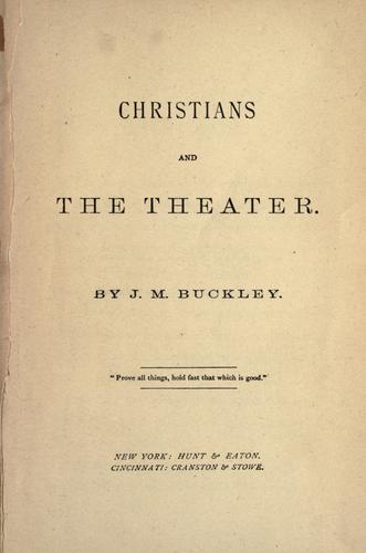 Download Christians and the theater.