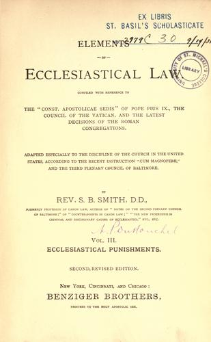 Download Elements of ecclesiastical law