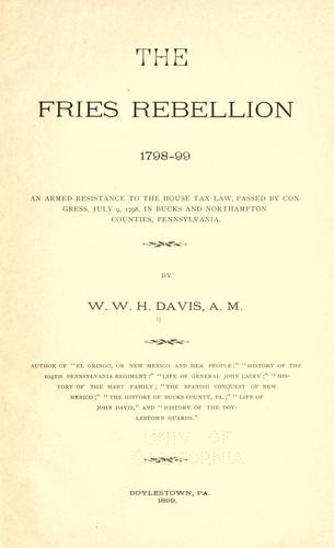 Download The Fries rebellion, 1798-99