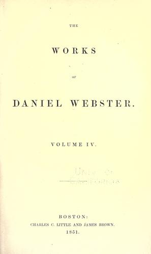 Download The works of Daniel Webster
