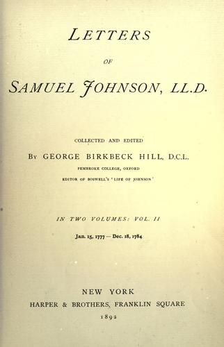 Download Letters of Samuel Johnson