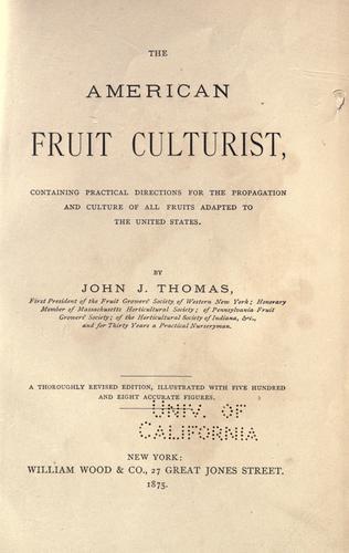 The American fruit culturist