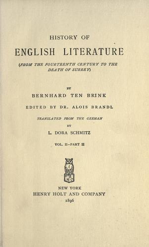 Download History of English literature …