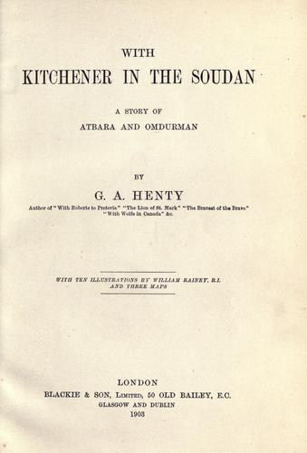 Download With Kitchener in the Soudan