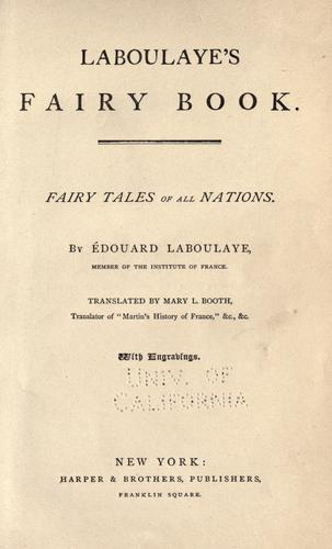 Download Laboulaye's Fairy book.