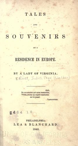 Download Tales and souvenirs of a residence in Europe.