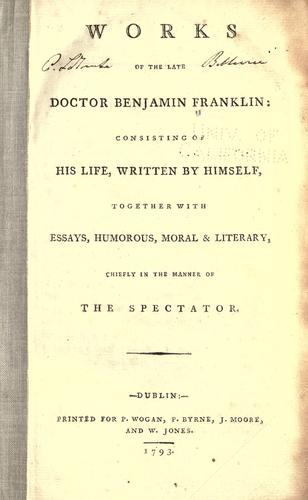 Download Works of the late Doctor Benjamin Franklin