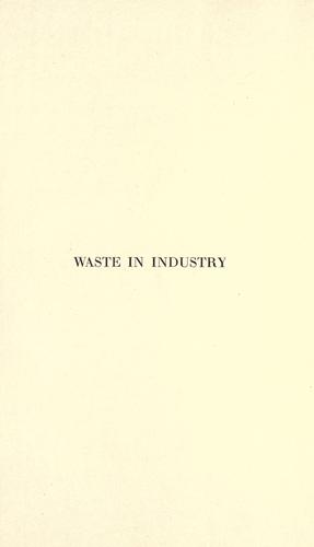 Download Waste in industry