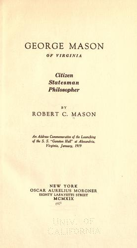George Mason of Virginia