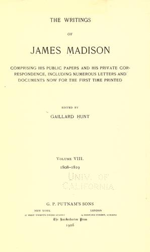 Download The writings of James Madison