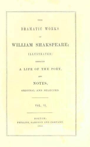 The dramatic works of William Shakspeare…