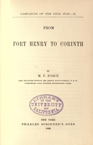 From Fort Henry to Corinth.