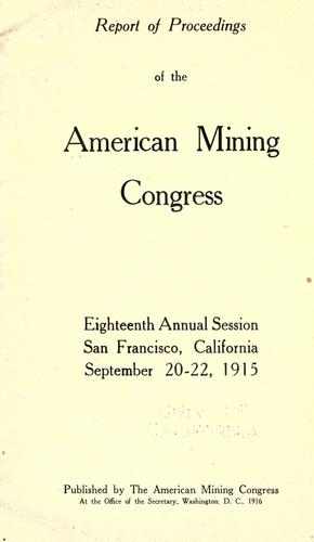 Download Report of proceedings of the American Mining Congress