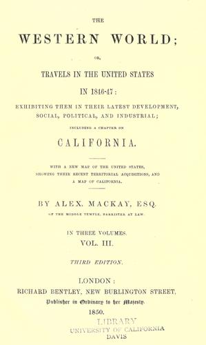 The western world; or, Travels in the United States in 1846-47