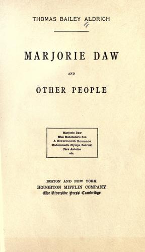 Marjorie Daw and other people.