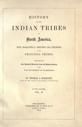 Download History of the Indian tribes of North America