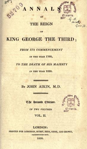 Download Annals of the reign of King George the Third