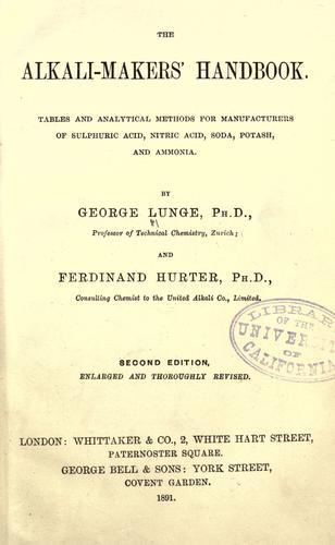 The alkali-makers handbook
