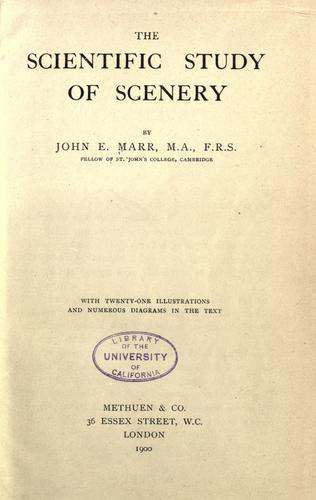Download The scientific study of scenery